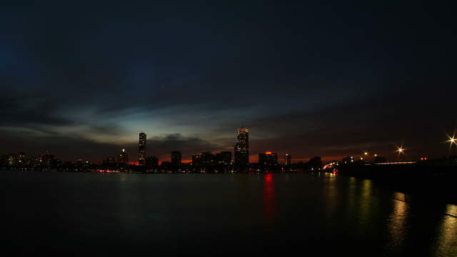 Boston Skyline Sunrise Wide-Angle