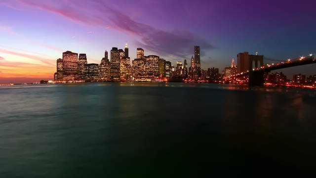 New York Skyline - 2K Timelapse Footage