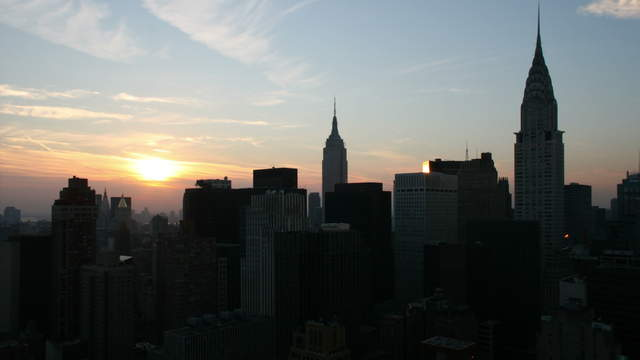 New York Skyline  - Day to Night 4K Timelapse