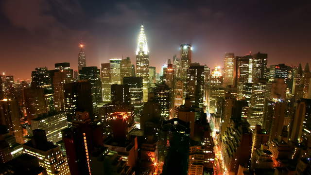 New York Skyline Timelapse Stock Footage Video