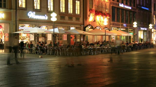 Cafe Pedestrian Zone Munich