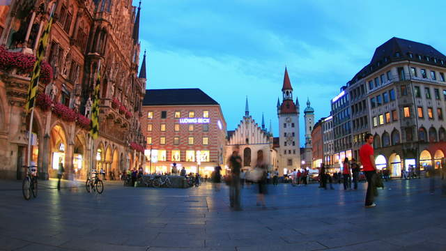 Marienplatz Munich Day-Night