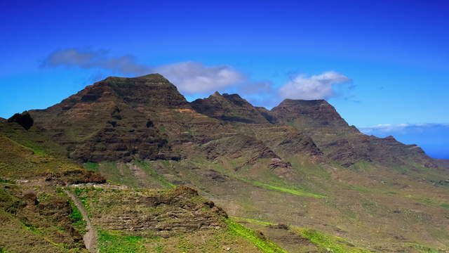 Gran Canaria - Mountains With Clouds