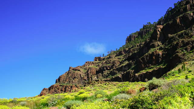 Mountain With Clouds at Gran Canaria