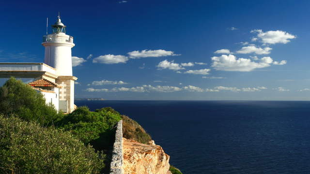 Lighthouse at Cap Blanc, Mallorca, Balearic Islands