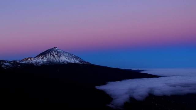Setting Earthshadow with Teide