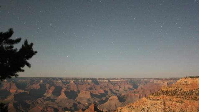 Moonset at Grand Canyon
