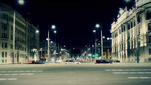 Schwarzenbergplatz Vienna traffic – tracking shot