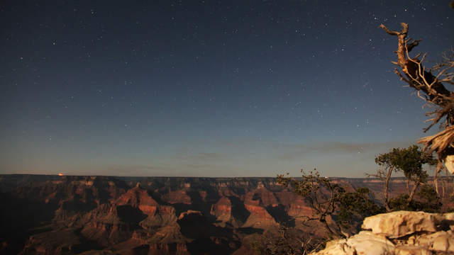 Grand Canyon in moonlight