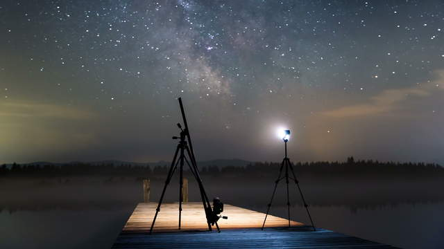 Making Of Milky Way Time Lapse