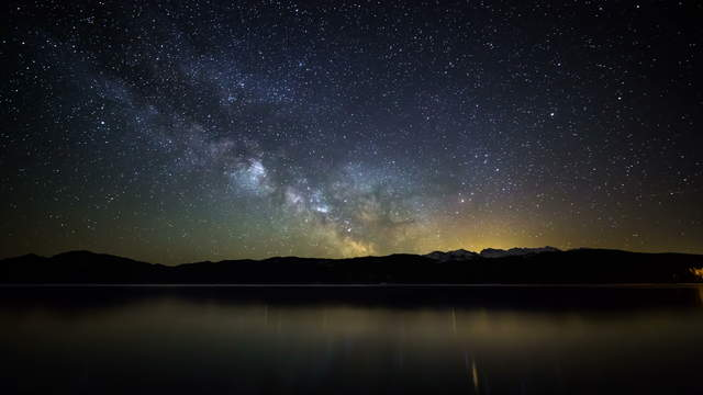 Milky Way Time-Lapse Galaxy