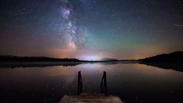 Milky Way Time Lapse at the Lake