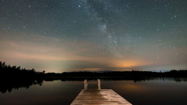 Milky Way over Lake View