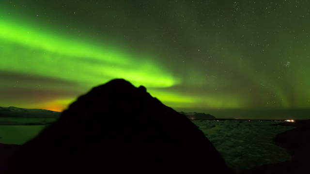 6K Northern Lights Time Lapse Footage Clip