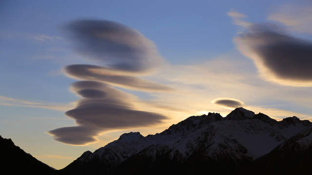 Lenticularis clouds