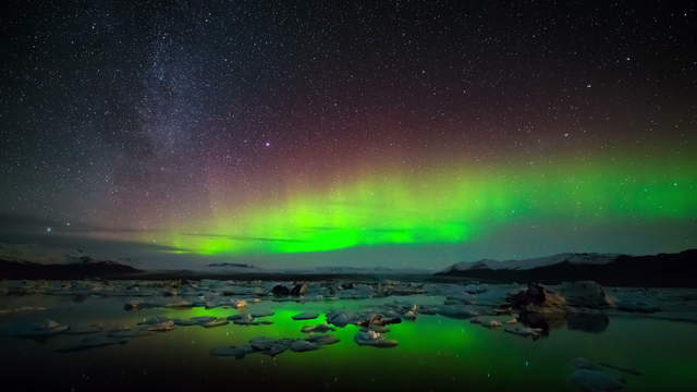 Iceland Time-Lapse Northern Lights UHD 4K, 6K Stock Footage Video
