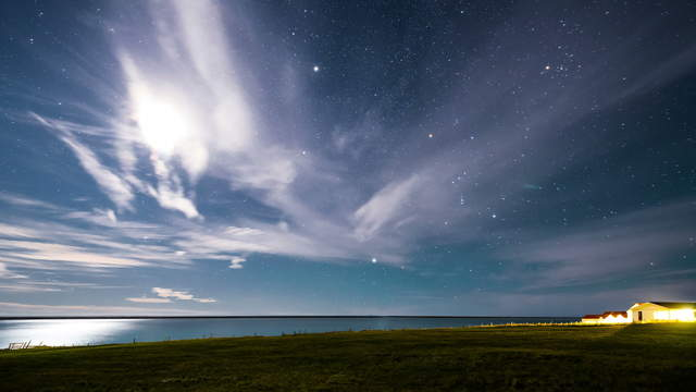 Night Sky Time-Lapse Iceland 6K Footage Video
