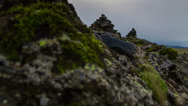 Stock Footage Iceland Piles of Stone 6K Video Footage