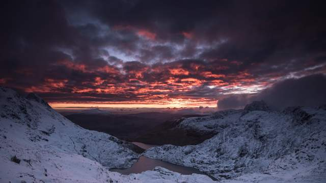 Wintry Sunrise From Snowdon