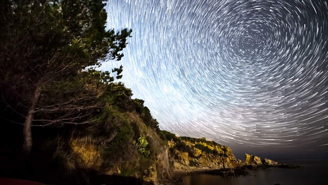 4K Video Loop - Startrails Sicily