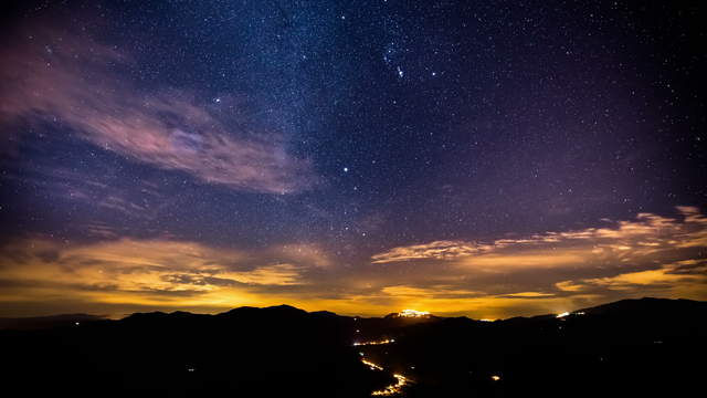 Starry Sky Night at San Mauro Castelverde, Sicily