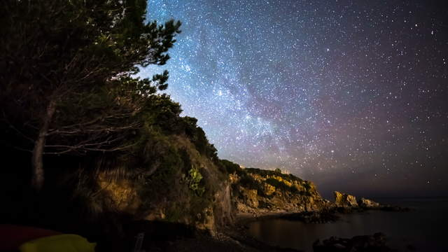 Starry Sky Time-lapse Video 4K 6K - Sicily