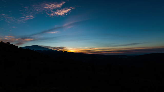 Sunrise Mt. Etna Time-lapse Video 2in1