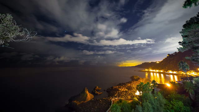 Sicily - Coast at Night
