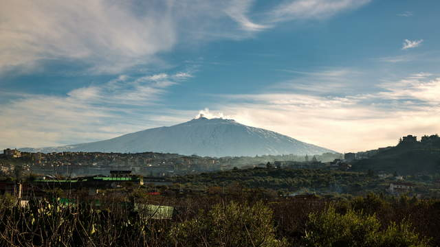 Sicily - Wide-Angle, Time-lapse of Mt. Etna