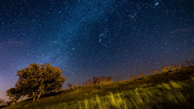Time lapse clip - Starry Sky UHD Time-Lapse Video with Milky Way