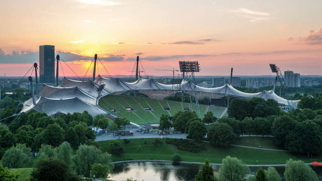 Sunset Olympic Stadion Munich