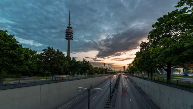 Ring Road Munich with Olympic Tower