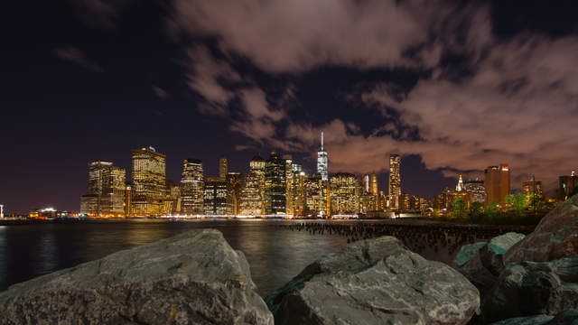 NY Skyline from Brooklyn Bridge Park
