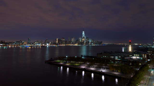 NYC Stock Footage Hudson Night to Day