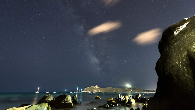 Time lapse clip - Beach with Milky Way