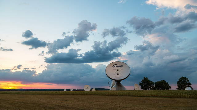 Dusk at Satellite Earth Station